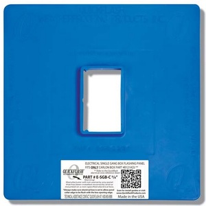 Quickflash E-SGB-C-5/8 Single Gang Box Flashing Panel 5/8""
