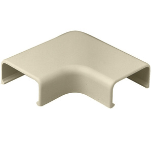 Wiremold 2911 90° Flat Elbow, 2900 Series Raceway, Non-Metallic, Ivory