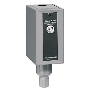 Allen-Bradley 836-C6A Pressure Switch, Type 1 Enclosure, 30 - 100 PSI, Adjustable Range
