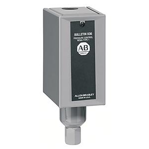 Allen-Bradley 836-C2A Pressure Switch, Type 1 Enclosure, 30 -10 PSI, Adjustable Range