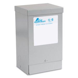 Acme T253108S Transformer, Dry Type, 500VA, 600VAC Primary, 120/240VAC Secondary