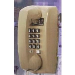 Emerson Network Power 255400-VBA-20M Phone, Wall Mount, Push Button, Basic, Single Line, Ash