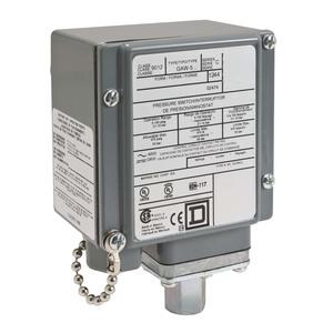 Square D 9012GAW5 Pressure Switch, Electromechanical, 10A, 120/240VAC, 250VDC, 475PSI