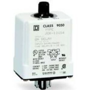 Square D 9050JCK15V20 Relay, Timer, 10A, 240VAC, 120VAC Coil, 8 Pin, 2PDT, On-Delay