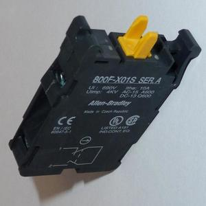 Allen-Bradley 800F-X01S Contact Block, 22.5mm, Plastic, 1 Normally Closed, Self Monitoring