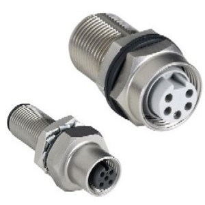 Allen-Bradley 1485A-CXN5-M5 Bulk Head Connector, Pass-Thru, Mini 5-Pin, Thick or Thin Media