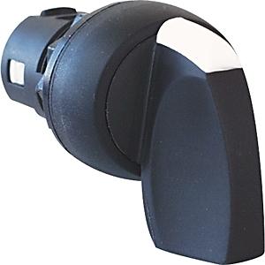 Allen-Bradley 800FM-HM22 Selector Switch, 2 Position, Knob Lever, Metal, Black/White Insert