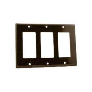 Leviton 80411 Decora Wallplate, 3-Gang, Thermoset, Brown