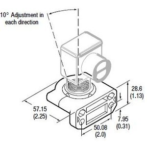 Allen-Bradley 60-2649 Mounting Bracket, Swivel/Tilt, +/- 10D, Vertical, 360D Rotation