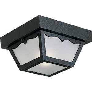 Progress Lighting P5744-31 Ceiling Light, Outdoor, 1-Light, 60W, Black