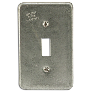 Appleton FSK-1TS Toggle Switch Cover, 1-Gang, Steel, Fits FS and FD Boxes