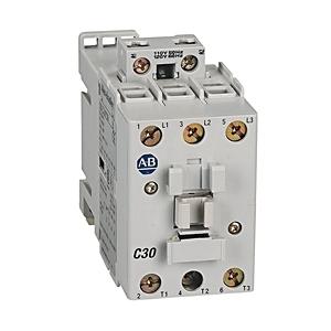 Allen-Bradley 100-C30H10 Contactor, IEC, 30A, 3P, 208VAC Coil, 1NO