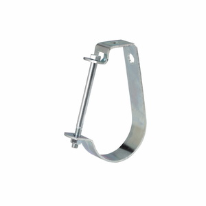 "Cooper B-Line B3690-1-1/4-ZN Pipe Hanger, Adjustable ""J"" Hanger, 1-1/4"", Steel/Zinc Plated"