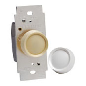 Leviton 6681-IW Rotary Dimmer, Preset, Single-Pole. Trimatron, Ivory/Wh