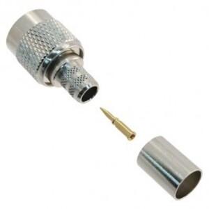 Amphenol 122390 BNC RG-6 Connector, TNC, Straight Crip Plug, 75 Ohm