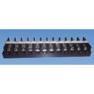 JITE Technologies BTB671-00-12-1 Terminal Block, Barrier Type, 12 Pole, 6 AWG, Black Polycarbonate