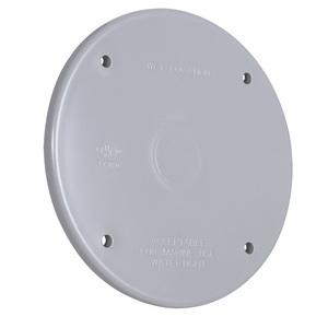 "Hubbell-TayMac PBC300GY Weatherproof Cover, 4"" Round, Type: Blank, Non-Metallic"