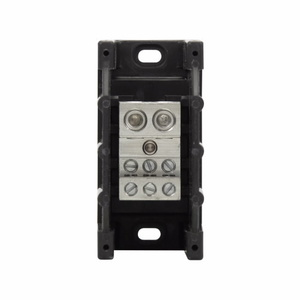 Eaton/Bussmann Series 16325-1 Power Distribution Block, 1-Pole, Double Primary - Multiple Secondary
