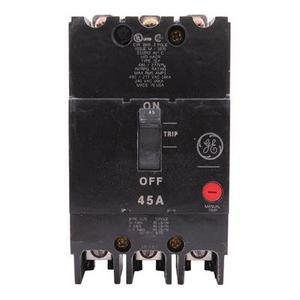 GE Industrial TEY345 Breaker, Bolt On, 45A, 480/277VAC, 3P, Molded Case, 14kAIC