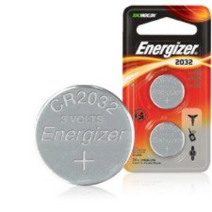 Energizer ECR2032 Lithium Coin Battery, 3V