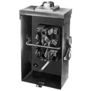 GE Industrial TC10323R Safety Switch, Double Throw, 100A, 120/240VAC, Non-Fusible, NEMA3R