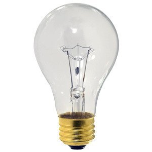Damar 02026A Incandescent Bulb, Rough Service, A19, 60W, 130V, Clear