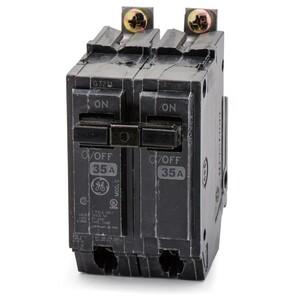 GE Industrial THQB2135 Breaker, 35A, 2P, 120/240V, Q-Line Series, 10 kAIC, Bolt-On