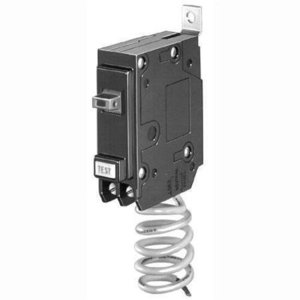 GE Industrial THQB1130GF Breaker, 30A, 1P, 120/240V, Q-Line Series, 10 kAIC, Bolt-On, GFCI