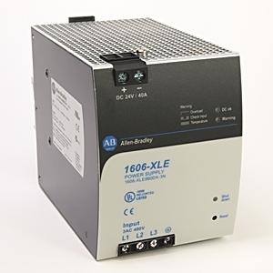 Allen-Bradley 1606-XLE960DX-3N Power Supply, 960W, 24 VDC, Output, 480 AC Input, 40A, 3PH