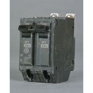 GE THHQB2130 Breaker, 30A, 120/240VAC, 2P, Bolt On, 22kAIC