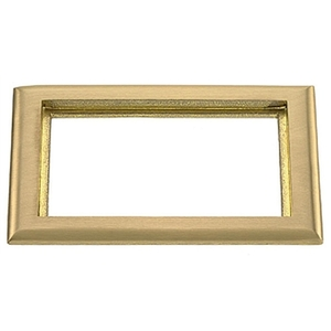 Hubbell-Kellems SB3084 Floor Box Carpet Flange, 2 Gang, Brass