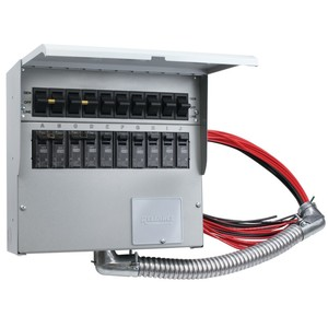 Reliance Controls A310D Manual Transfer Switch, 30A, 1PH, 120/240VAC, NEMA 1