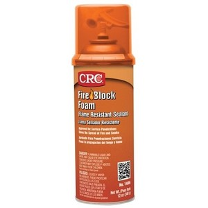 CRC 14084 Orange Fire Blocking Foam, 12 Oz. Aerosol Can