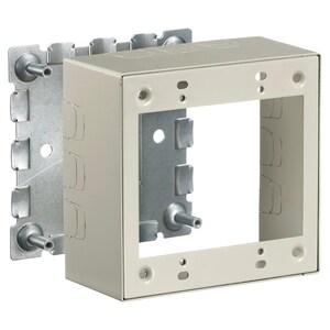Hubbell-Wiring Kellems HBL5744S2IVA 2-Gang Deep Box, HBL500/700 Metal Raceway, Steel, Ivory