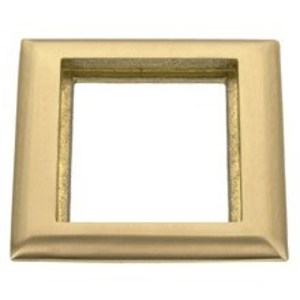 Hubbell-Kellems SB3083 Rectangular Flange, 1-Gang, Brass, For Carpet Applications