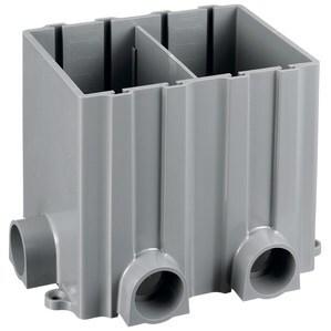 "Hubbell-Kellems PFBRG2 Rectangular Floor Box, 2-Gang, Depth: 6"", Non-Metallic"