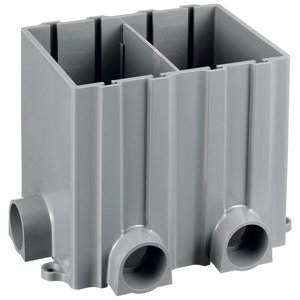 "Hubbell-Kellems PFBRG2 Rectangular Floor Box, 2-Gang, Depth: 6"", Non-Metallic"
