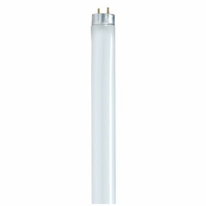 "Satco S8422 Fluorescent Lamp, Reduced Wattage, T8, 48"", 28W, 3000K"