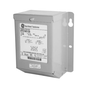 GE 9T51B0109 Transformer, Buck-Boost, 120/240 x 12/24V, 0.75 kVA, Type QB, 1PH