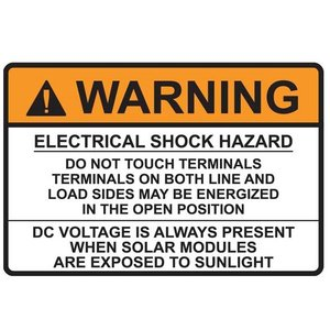 "HellermannTyton 596-00496 Solar Label, 3.75"" x 2.5"", Orange"