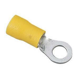 """Ideal 83-2351 Ring Terminal, Vinyl Insulated, 12 to 10 AWG, 1/4"""" Stud"""