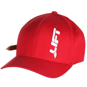 Lift Safety AVT-6R Cotton Flexfit Hat, Red