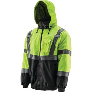 Lift Safety AVB-14HVL Reflective Hoodie, Polyester Fleece, L
