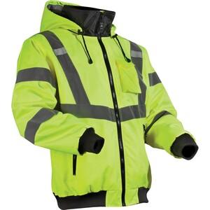 Lift Safety AVB-14HVL Reflective Hoodie, Polyester Fleece, L