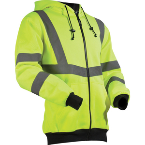 Lift Safety AVB-14HV1L Reflective Hoodie, Polyester Fleece, XL