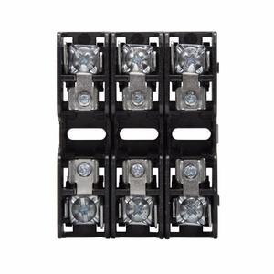 Eaton/Bussmann Series BMM603-3PQ Fuse Block, 3P, 30A, 600V AC/DC, 10 x 38mm, Quick Connect, 200kAIC