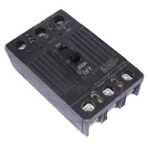 GE Industrial TQD32100WL Breaker, 100A, 240VAC, 3P, Lug In, Lug Out, Molded Case, 10 kAIC