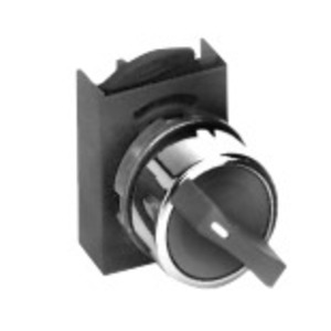 GE P9CSVD5N Selector Switch, 2 Position, Chrome, Momentary, Cam D, 22.5mm