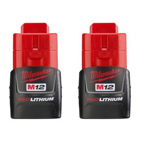 Milwaukee 48-11-2411 M12 Red Lithium Battery 2-Pack