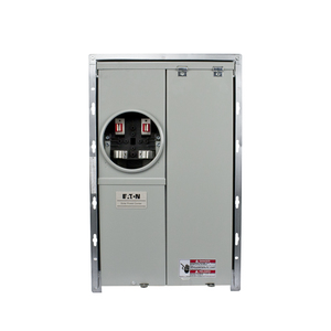 Eaton MBE1224PV125BTF Meter Center, 125A, 12/24, OH/UG, BR Type, 10 kAIC, Solar Ready